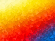 Abstract Background - Colorful Geometrical Shapes, Polygonal Vector Texture - Yellow, Blue, Red Colors