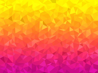Panel Szklany Wzory geometryczne Abstract background - Colorful Geometrical shapes, Polygonal vector texture - Pink and yellow colors