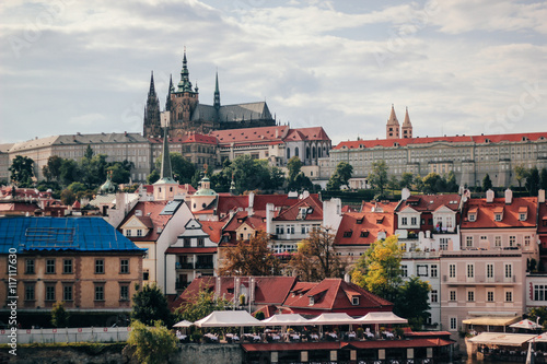 Fototapety, obrazy: View of the streets of old town Prague from the astronomical clock tower