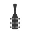 Hair salon and barber shop concept represented by comb icon. Isolated and flat illustration