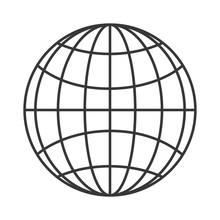 Flat Design Earth Globe Diagra...