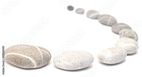 Fotografie, Obraz  row of pebbles