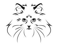 Cat Breed Line Art Logo - Ragdoll
