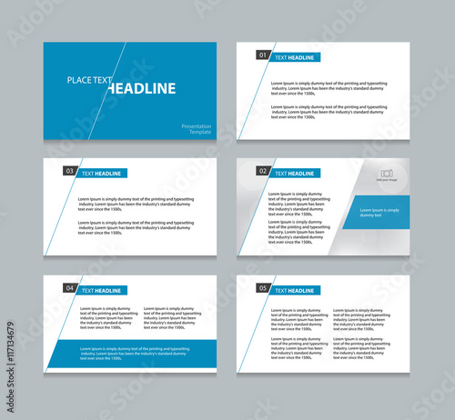page presentation layout design template buy this stock vector and