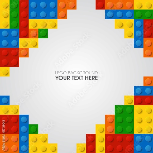 Lego background Poster Mural XXL