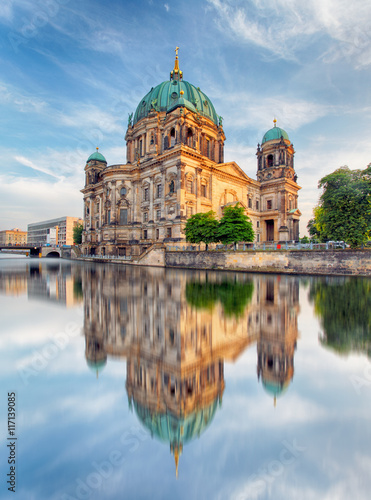 Fotobehang Berlijn Cathedral in Berlin, Berliner Dom