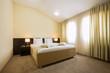 Modern elegant hotel bedroom interior