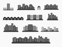 Architecture Icons Silhouettes...
