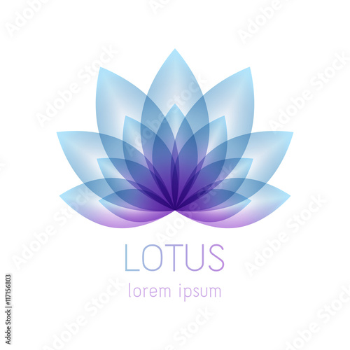 Beautiful lotus flower symbol.