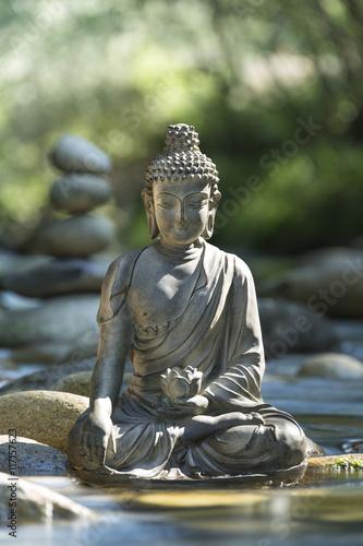 Fotografie, Obraz  Statue de Bouddha