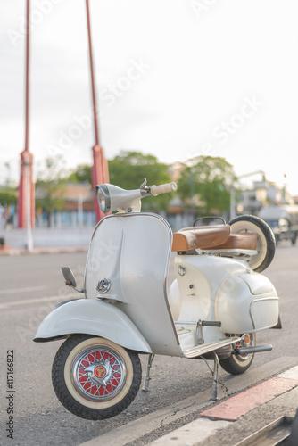 Foto op Canvas Scooter vintage vespa scooter motorcycle