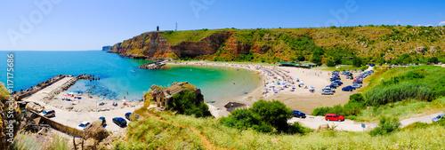 Photo  Bolata beach Bulgaria. Panoramic image.