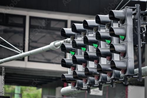 Fotografía  Racing green traffic light