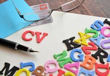 Literki Alfabetu Z Napisem CV