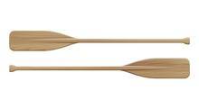 Two Wooden Paddles. Sport Oars.