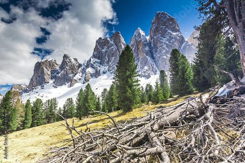 Italien, Südtirol, Villnösstal, Geislerspitzen Wallpaper Mural