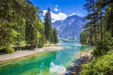 Südtirol, Pragser Wildsee Mit Seekofel