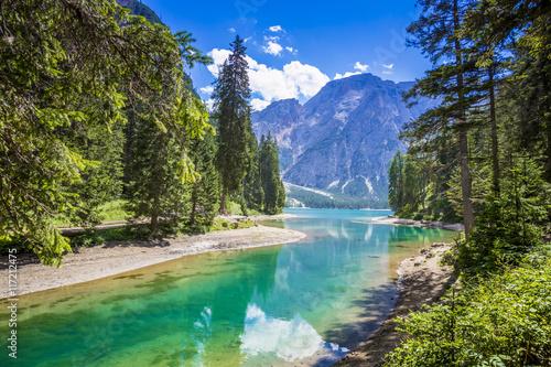 Foto  Südtirol, Pragser Wildsee mit Seekofel