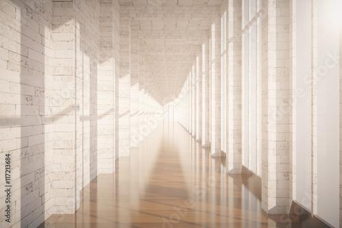 Fotografie, Tablou  Brick corridor interior