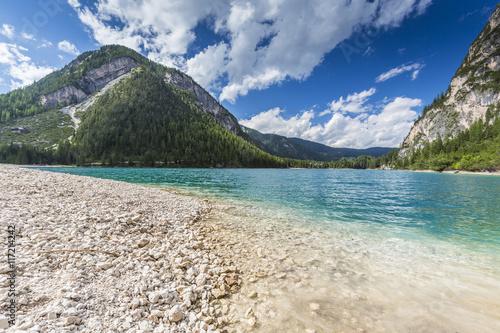 Plakat Włochy, Południowy Tyrol, Jezioro Braies