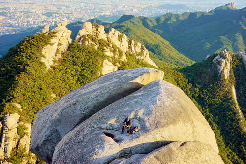 View from Bukhansan mountain Poster