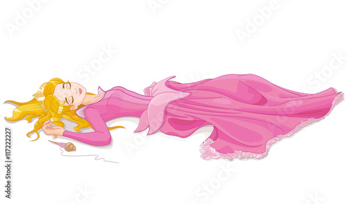 Printed kitchen splashbacks Fairytale World Sleeping Beauty