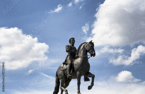 Canvas Prints Statue of King Henry IV in Paris