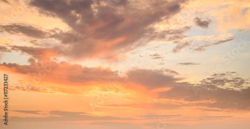Tuinposter Canarische Eilanden Beautiful sky in sunrise time