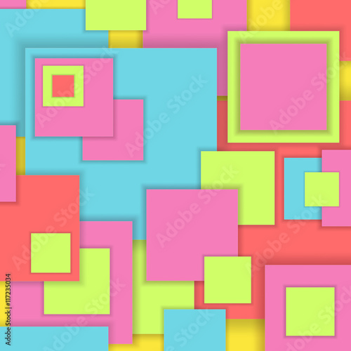 Background Unusual modern material square design Poster