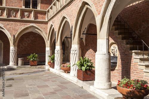 Fototapeta Courtyard  of Collegium Maius,   Krakow, Poland. obraz