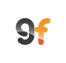 9f Initial Grey And Orange With Shine