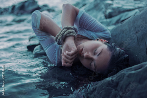 Photo  Sea girl