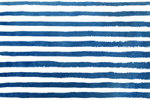 Watercolor Dark Blue Stripe Grunge Pattern.