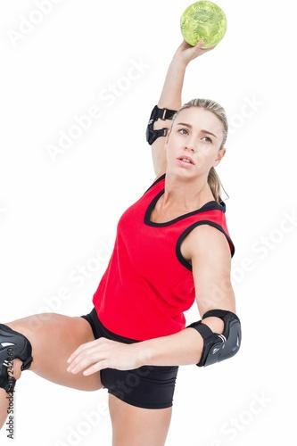 Zdjęcie XXL Lekkoatletka, rzucając piłkę ręczną