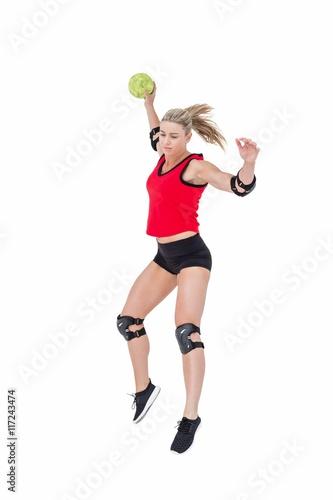 Zdjęcie XXL Lekkoatletka z łokieć rzucanie piłki ręcznej
