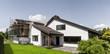 canvas print picture - Anbau an ein Einfamilienhaus