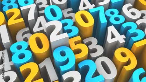 Fotografía  random numbers