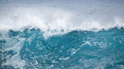 Stickers pour portes Eau ocean waves breaking