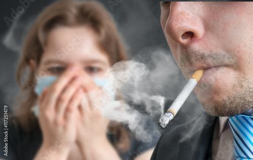 Passive smoking concept Fototapeta