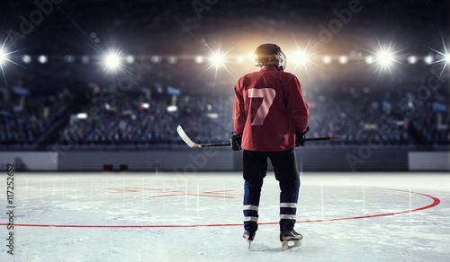 Plakat Gracz w hokeja na lodzie. Różne środki przekazu