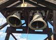 Traditional church bells of the main tower of Nicolas Titulescu in schei prund, in Brasov, Romania