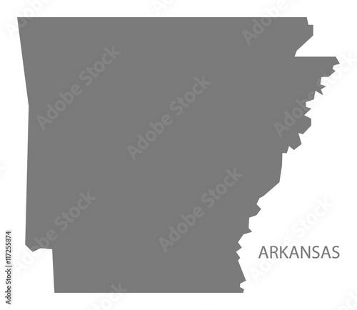 Arkansas USA Map grey Canvas Print