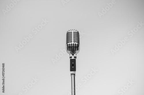 Foto op Plexiglas Retro vintage microphone
