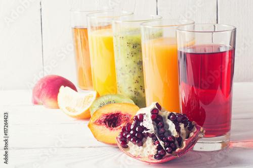 Plakat Zbiór soków owocowych