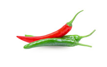 Fresh Red Chilli And Green Chi...