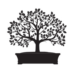 Naklejka Black Tree. Vector Illustration of Bonsai.