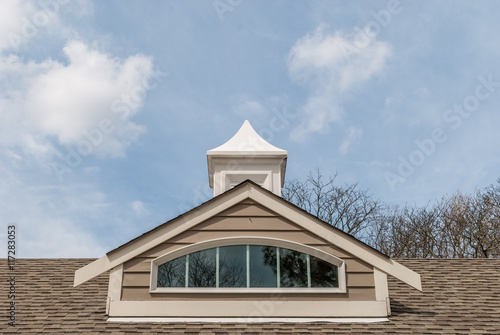 Dormer Window Isolated Rooftop Window Arch Rooftop Design Architectural Roof Design Architecture Design Roof Steeple Window Reflections Cloud Background Symmetrical Design Architecture Buy This Stock Photo And Explore Similar Images At