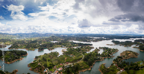 Panoramic view of Guatape Dam (Penol) - Colombia