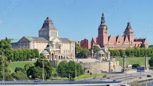 Wały Chrobrego w Szczecinie -Stitched Panorama © Tomasz Warszewski
