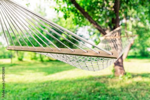 Photo  White hammock among the trees